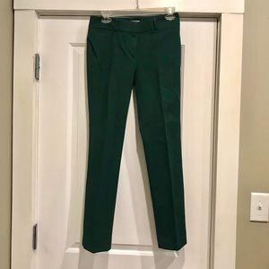 LOFT, size 2 petite, green dress pants